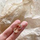 Girl CZ Shining Crescent Moon 925 Sterling Silver Stud Earrings