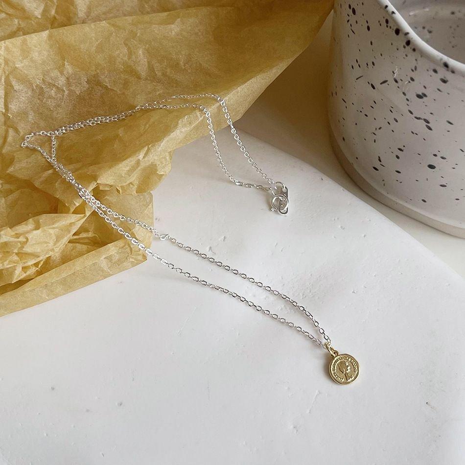 Simple Portrait 925 Sterling Silver Necklace