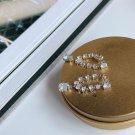 Elegant Waterdrop 925 Sterling Silver Hoop Earrings