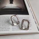 Rectangle 925 Sterling Silver Studs Earrings