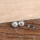Vintage Mini Round Nail Spike 925 Sterling Silver Stud Earring(Single)