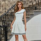 One Shoulder Sleeveless Frill Mini Bandage Dress