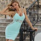 Strappy Sleeveless Lace Mini Bandage Dress