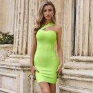 One Shoulder Sleeveless Asymmetrical Mini Bandage Dress