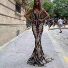 V Neck Sleeveless Fishtail Maxi Bodycon Dress