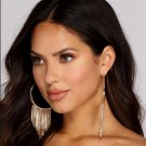Classic tassel circle big earrings