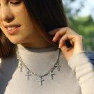 Christian Rhinestone Pendant Necklace