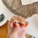 Cute Round Ball Beads 925 Sterling Silver Hoop Earrings