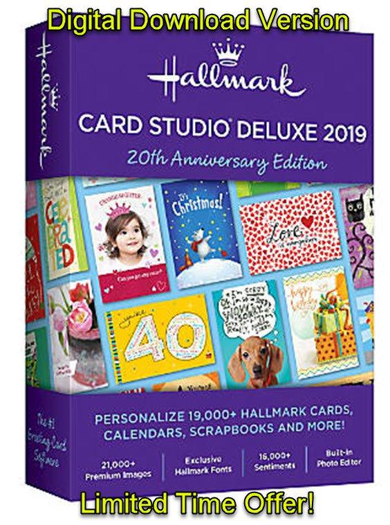 Hallmark Card Studio 2019 Deluxe - 3 PC (Latest Version) [Windows]