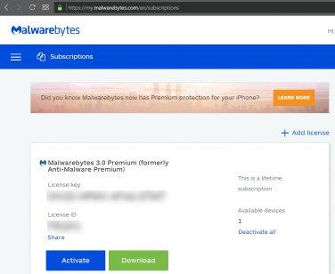 70% off [Lifetime Account] Malwarebytes Premium - Windows