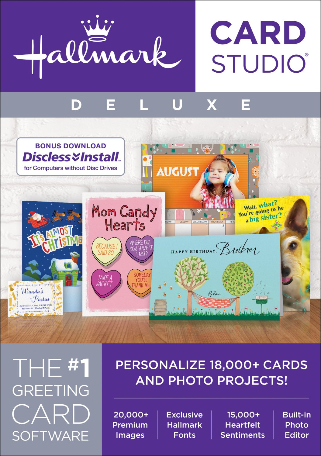 Hallmark Card Studio 2018 Deluxe (Latest Version) [Windows]