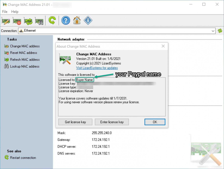 LizardSystems Change MAC Address - 1PC (2021 Latest Version) [Windows]