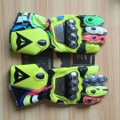 Motorcycle Dainese Leather Gloves VR 46