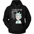 Rick and Morty Unisex SweatShirt Hoodie School is not a place for smart people