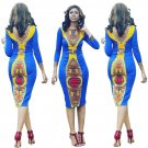 Women Traditional African Print Dresses Long Sleeve Autumn Fashion Style South African