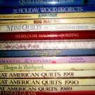 QUILTING and CRAFT BOOKS - LOT OF QTY 14