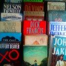 BOOKS - HARD COVERS - QTY 17 - NORA ROBERTS, CARL HIAASEN