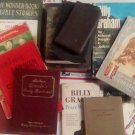 NEAT COLLECTION OF VINTAGE BIBLES (FEW FROM WW II ERA), BOOKS, and...