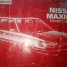 NISSAN MAXIMA 1986 - OWNER'S MANUAL