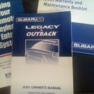 SUBARU LEGACY AND OUTBACK - 2001 - OWNERS MANUAL