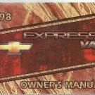 CHEVROLET - EXPRESS VAN - 1998 - OWNER'S MANUAL