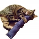 "15"" Catnip Kicker Stick W/Refillable Catnip Pocket / Catnip Toy for Cats (Blue #1)"