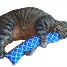 "15"" Catnip Kicker Stix W/Refillable Catnip Pocket / Catnip Toy for Cats (Blue #2)"