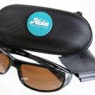 Napa by Hobie Polarized Sunglasses Brown Lens Black Frame 100% UVA UVB UVC NEW