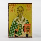 Christian Icon of Saint Patrick, catholic and orthodox icons
