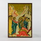 Christian Icon The resurrection of Lazarus, catholic and orthodox icons