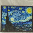 The Starry Night,Painting by Vincent van Gogh,print canvas with handmade finishes,Size 20x24x1.1 cm.