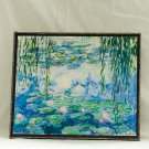 Water Lilies, Painting by Claude Monet, print canvas with handmade finishes, Size 20x24x1.1 cm.