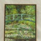 The Japanese Footbridge,Painting by Claude Monet,print canvas with handmade finishes,Size24x20x1.1cm