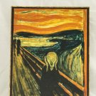 Scream, Painting by Edvard Munch, print canvas with handmade finishes, Size 24x20x1.1 cm.