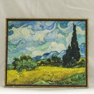 Wheatfield with Cypresses, Painting by Vincent van Gogh, print canvas with handmade finishes