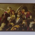 Healing of Tobit,Painting by Bernardo Strozzi,print canvas with handmade finishes,Size 17x24x1.3 cm.