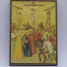The Crusifixion,Painting by Pietro Lorenzetti,print canvas with handmade finishes,Size 24x17x1.3 cm.