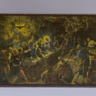 The Last Supper,Painting by Jacopo Tintoretto,print canvas with handmade finishes,Size 17x24x1.3 cm.