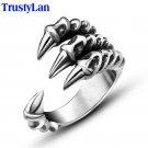 TrustyLan New US Size 7 12 Punk Rock Stainless Steel Mens Biker Rings Vinta