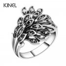 Hot Wholesale Vintage Jewelry Wedding Rings For Women Color Silver Mosaic B