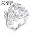 R757 8 Silver plated new design finger ring for lady Bridal Jewelry silver
