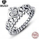 Genuine 925 Sterling Silver Finger Ring My Princess Queen Crown Rings for W