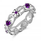 beautiful flower special  Silver plated ring, silver fashion jewelry ring F
