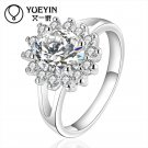 Brilliant Zircon rings Wholesale silver plated rings for women wedding part