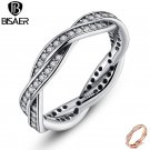 925 Sterling Silver Wedding Band Engagement Rings for Women bijoux Wedding