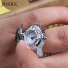 Engagement Rings for women Silver and Black Color Wedding Rings Round Elast
