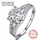 Real Solid Silver Wedding Rings For Women Inlay Sona 2 Carat CZ Diamant Eng