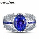 Vecalon Vintage Design Men fashion Jewelry wedding Band ring 5ct stone 5A Z