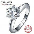 100% Real Solid 925 Sterling Silver Rings Set 1.5 Carat Sona CZ Diamant Sil