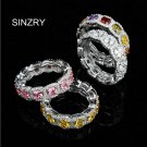 SINZRY cubic zirconia Micro paved 925 sterling silver CZ geometry wedding r
